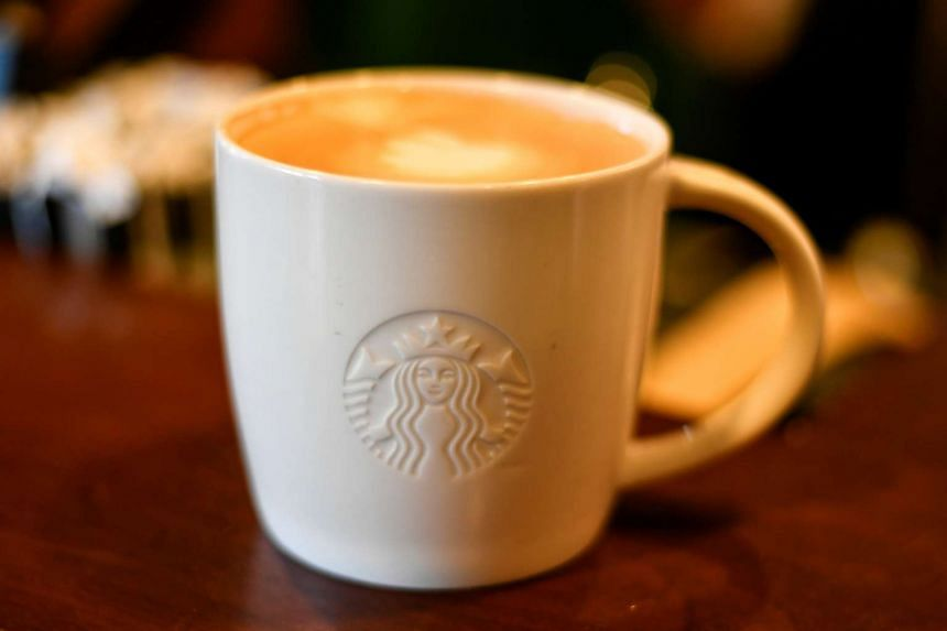 A cup of coffee at a Starbucks coffeehouse in Austin, Texas.