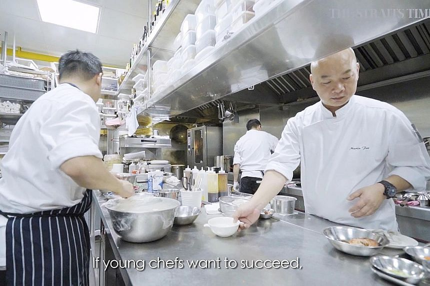 Best Asian Restaurants' Chef of the Year Martin Foo at work in the kitchen.