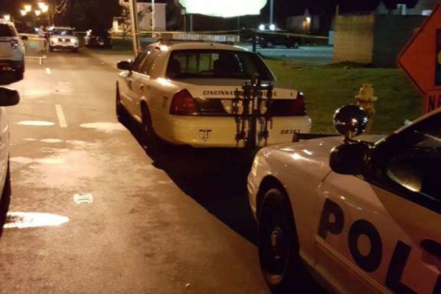 Cincinnati Police at the scene at Cameo Night Club after one person was killed and at least 14 were wounded in a shooting.