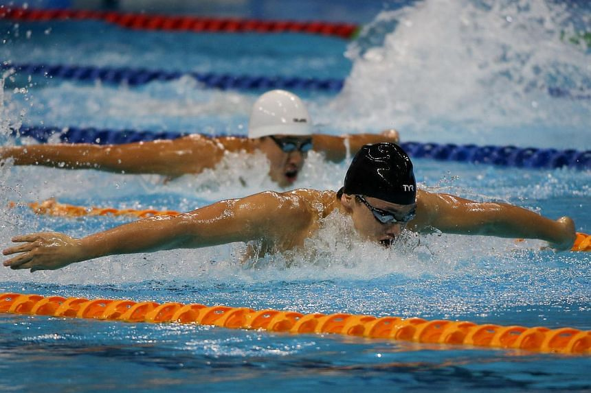 Joseph Schooling won his fourth gold of the 28th Sea Games in the 200m fly where he set a new Games and national record of 1min 55.73sec in 2015.