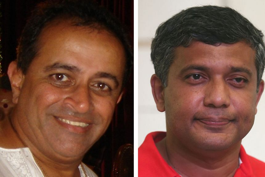 Former journalist Suresh Nair (left) and Kumar Appavoo,(right) who ran in the 2015 General Election as a Reform Party candidate, are among 16 men fighting for the six individual council member positions.
