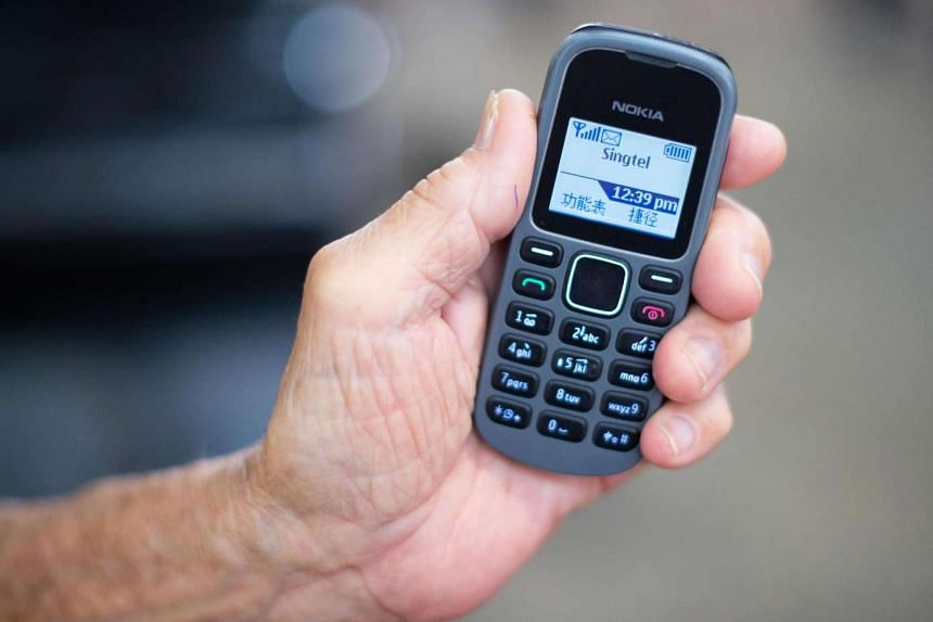 A 2G mobile phone. IMDA reminds all remaining 2G mobile users to switch to 3G or 4G handsets as soon as possible.