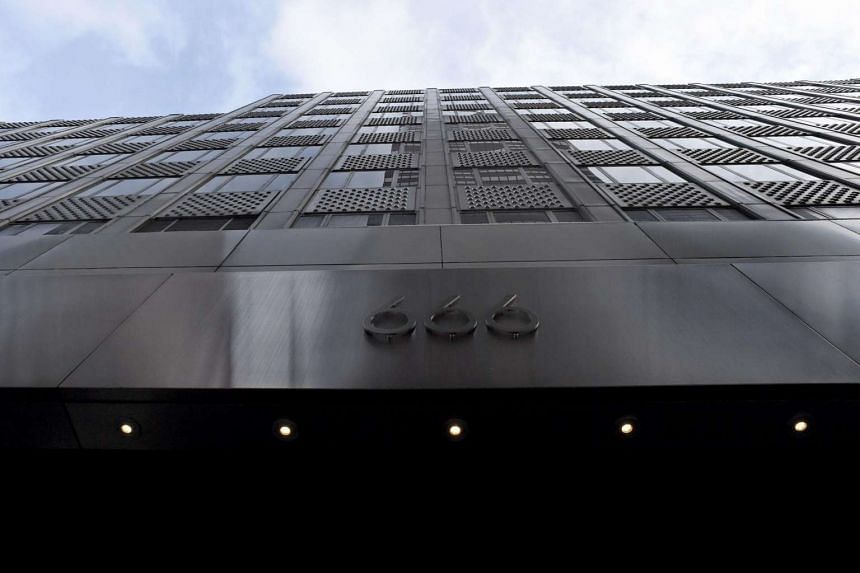 The building owned by the family of US President Donald Trump's son-in-law, Jared Kushner, at 666 Fifth Avenue in Manhattan, New York City.