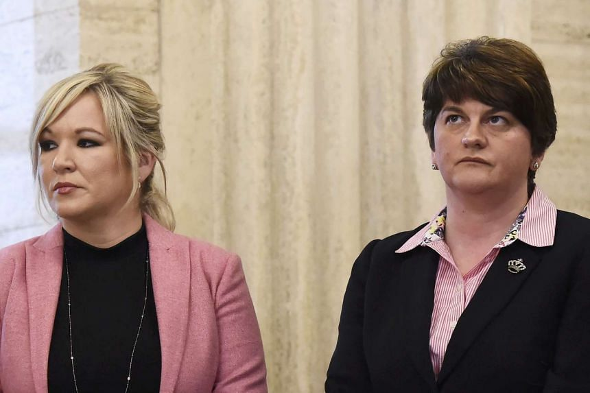 Sinn Fein's Michelle O'Neill (left) and the  Democratic Unionist Party's Arlene Foster blamed each other for the collapse.