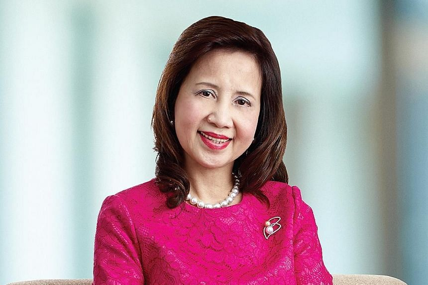 Clockwise from top left: Mrs Fang Ai Lian, Ms Elizabeth Kong and Ms Aliza Knox are on the board of SingPost; Mrs Ow Foong Pheng and Ms Euleen Goh are the two women among the nine members of DBS Bank's board.