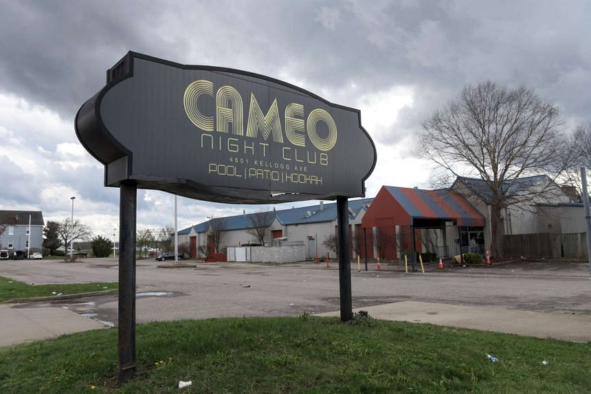 The parking lot of Cameo Nightlife club remains empty after police removed barrier tape from the scene of a mass shooting in Cincinnati, Ohio, on March 26, 2017.