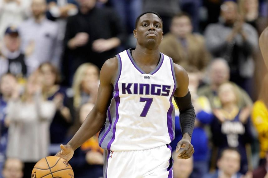 Darren Collison of the Sacramento Kings dribbles the ball during the game against the Indiana Pacers on Jan 27, 2017.