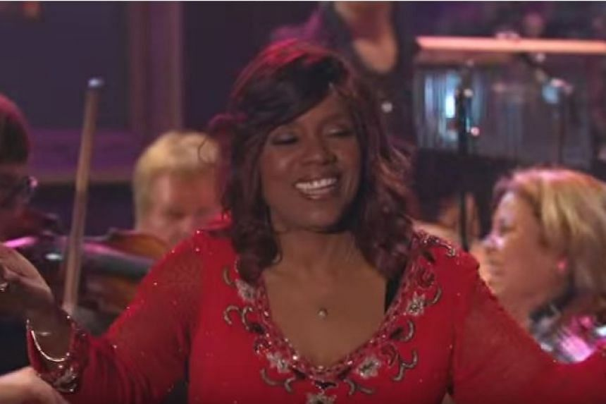 Gloria Gaynor performs her hit song I Will Survive for a televised programme on PBS.