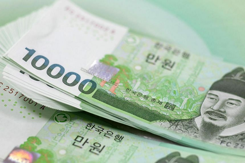 The South Korean won sharply rose to a near six-month high early on Monday (March 27).