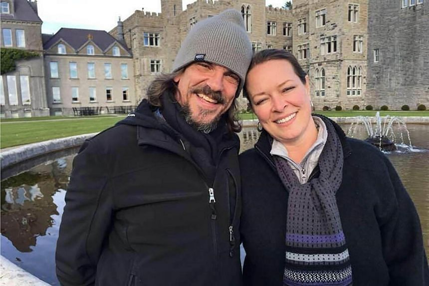 US citizens Kurt W. Cochran (left), who was killed in the March 22 London terror attack, and his wife Melissa pictured at an undisclosed location.