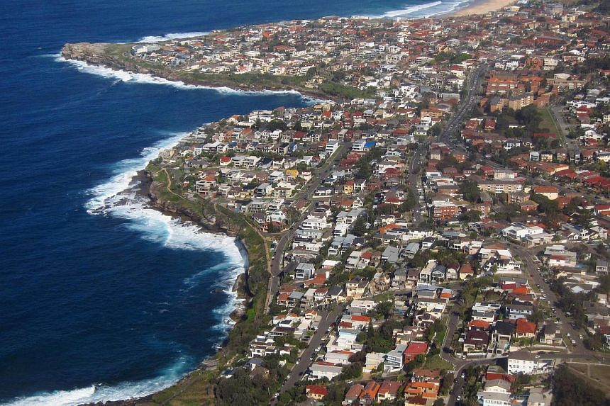 Residential homes can be seen in the coastal Sydney suburb of South Coogee, Australia.