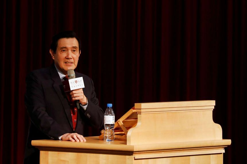 Taiwan's former president, Ma Ying-jeou, attends a gathering at the National Taiwan University after he was charged with leaking state secrets, in Taipei, Taiwan on March 14, 2017.