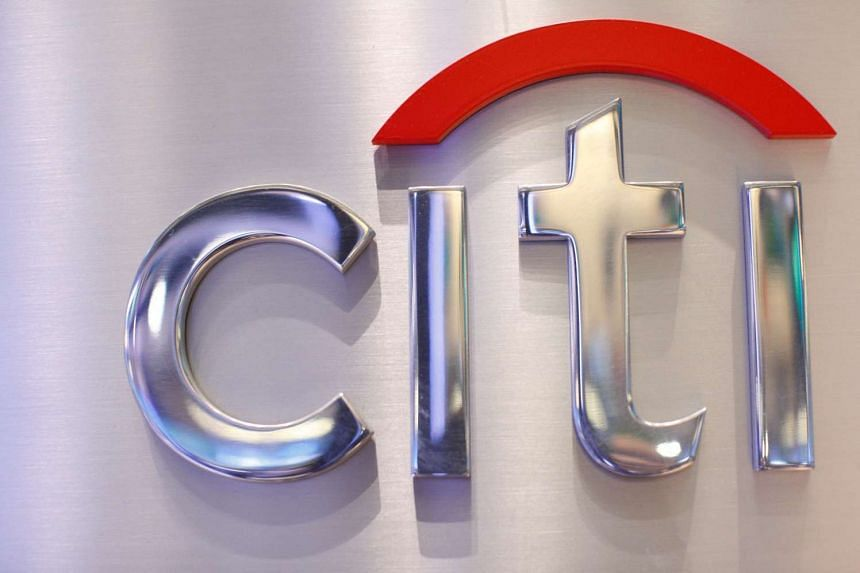 A Citi sign is seen at the Citigroup stall on the floor of the New York Stock Exchange in October 2012.