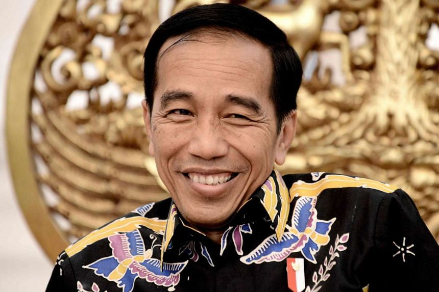 Indonesian President Joko Widodo at an interview at the Merdeka Palace in Jakarta on March 27, 2017.