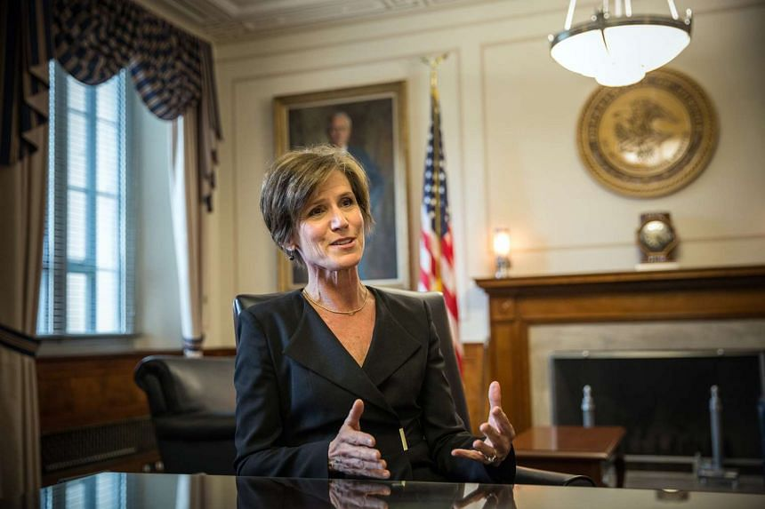 Then-Deputy Attorney General Sally Yates is pictured at the Justice Department in 2015.