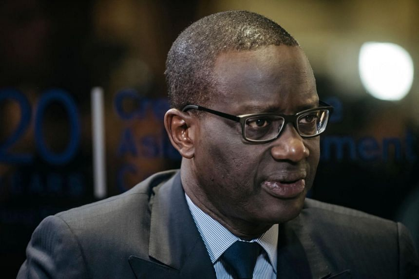 Credit Suisse Group CEO Tidjane Thiam speaks during a Bloomberg Television interview at the Credit Suisse Asian Investment Conference in Hong Kong, China, on Tuesday (March 28).