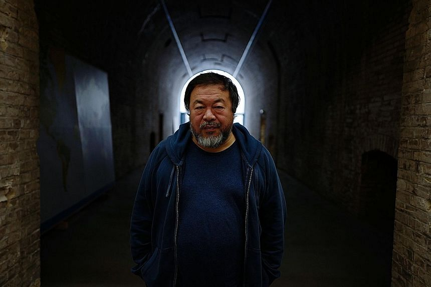 "Chinese artist Ai Weiwei says his public art project, Good Fences Make Good Neighbours, is a reaction to ""a retreat from the essential attitude of openness"" in United States politics."