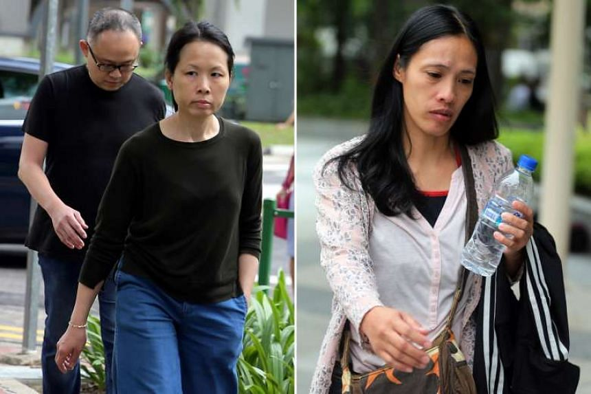 Chong Sui Foon and her husband Lim Choon Hong failed to comply with work pass conditions and provide adequate food to Madam Gawidan (right) for 15 months, causing her weight to fall from 49kg to 29.4kg.