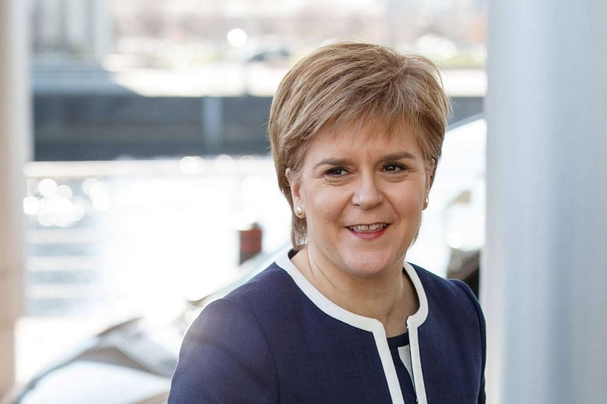 SNP leader and Scotland's First Minister Nicola Sturgeon arriving at the Crowne Plaza Hotel for talks with British Prime Minister Theresa May (not pictured) in Glasgow, Scotland, on March 27, 2017