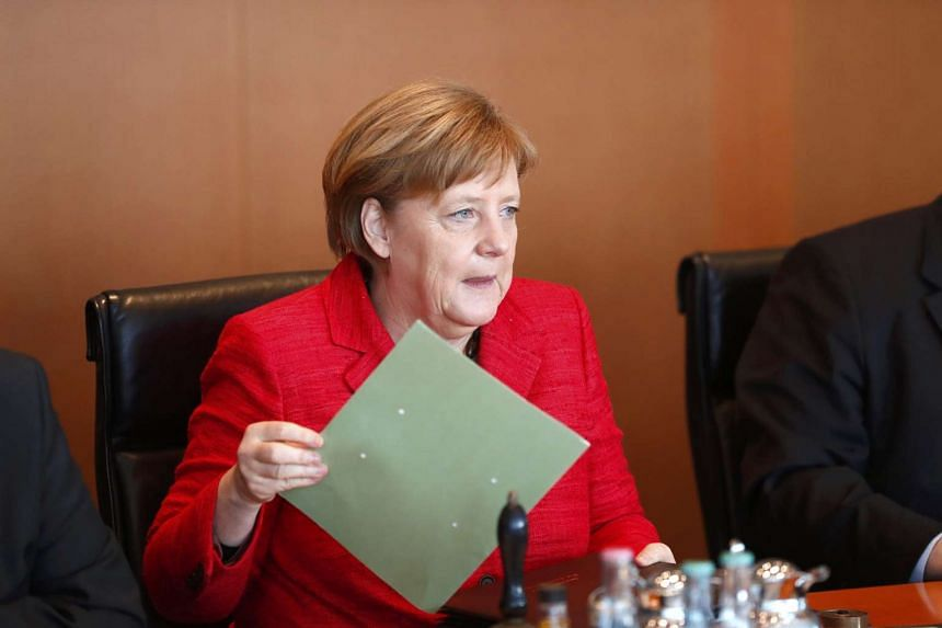 German Chancellor Angela Merkel attends a Cabinet meeting at the Chancellery in Berlin, March 29, 2017.