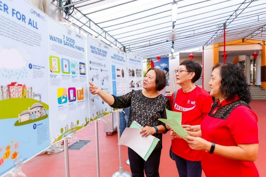 Nee Soon South Clean and Green Committee co-organises outreach activities with PUB to promote water conservation through exhibitions at grassroots events.