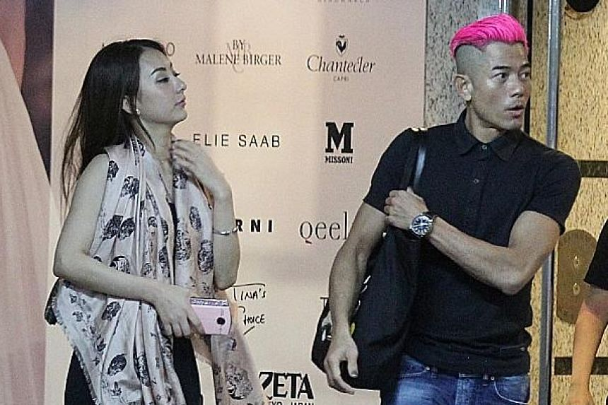Due to work commitments, Heavenly King Aaron Kwok (above, with model Moka Fang in an undated file photograph) is said to likely have only a few days next month to wed and hold a low-key banquet.