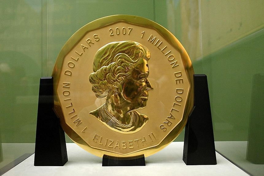 The Big Maple Leaf weighs as much as a refrigerator, and has a face value of C$1 million (S$1.04 million), but by gold content alone it is worth up to US$4.5 million (S$6.3 million).