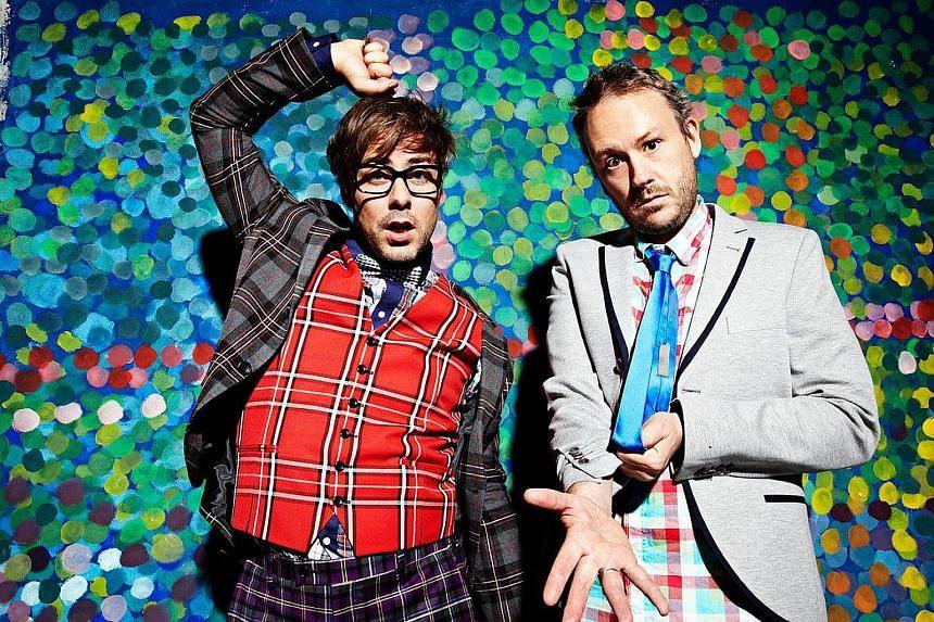 Basement Jaxx's Felix Buxton (left) and Simon Ratcliffe.
