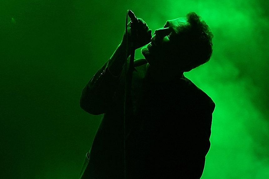 Vocalist Jim Reid of The Jesus And Mary Chain.