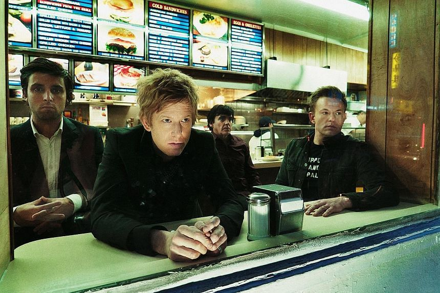 (Above) American indie band Spoon comprise (from left) Alex Fischel, Britt Daniel, Jim Eno and Rob Pope.