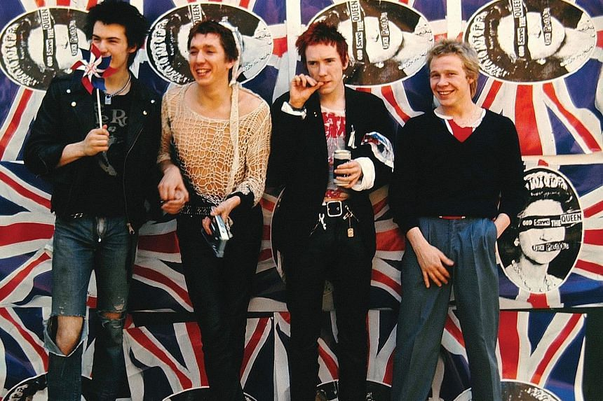 Sex Pistols' (from far left) Sid Vicious, Steve Jones, John Lydon aka Johnny Rotten, and Paul Cook in their heyday. Bassist Glen Matlock is not in the picture.