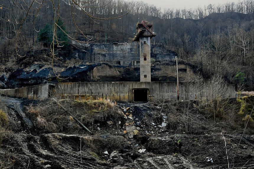 A former coal- mine operation near Hazard, Kentucky. People in rural Kentucky hope President Trump will help bring coal jobs back to the area.