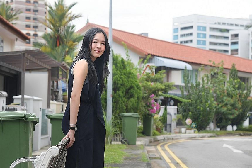 Ms Siah in the Whampoa neighbourhood where she and her husband bought a three-room HDB terraced flat at a premium last year, even though it had only 55 years of its 99-year lease remaining.