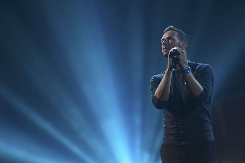Chris Martin of Coldplay at the Brit Awards in February. The 100,000 tickets initially available for both the band's shows here sold out quickly after they went on sale last November.