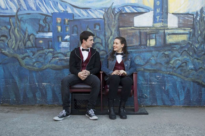 Dylan Minnette and Katherine Langford star as high-schoolers Clay and Hannah in 13 Reasons Why.