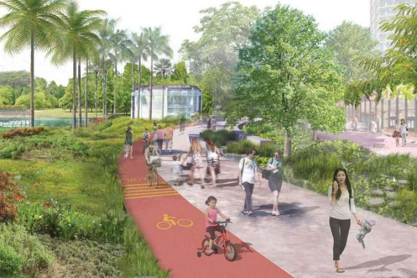 Developments within the Kampong Bugis precinct will be in a park-like environment, with seamless pedestrian and cyclist connectors.