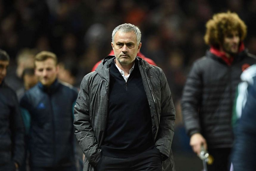 Manchester United manager Jose Mourinho arrives for the UEFA Europa League round of 16 second-leg football match between Manchester United and FC Rostov at Old Trafford stadium.