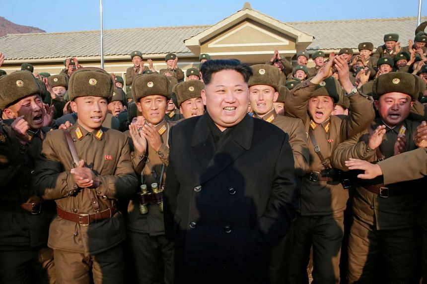 An undated photo of North Korean leader Kim Jong Un released by North Korea's Korean Central News Agency.