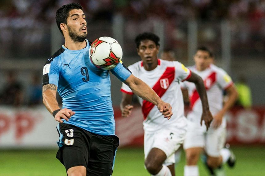 Uruguay's Luis Suarez a 2018 Fifa World Cup qualifier in Lima on March 28, 2017. Mr Elleray said incidents such as Suarez's handball on the line during Uruguay's 2010 World Cup match against Ghana was discussed.