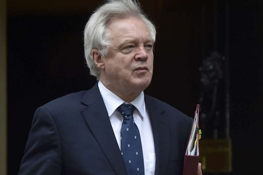 Britain's Secretary of State for Exiting the European Union David Davis arrives in Downing Street, London.