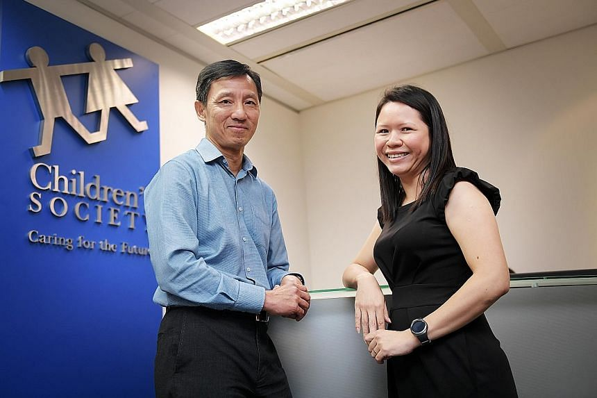 Mr Tan, Singapore Children's Society CEO, and Ms Ann, director of its Student Service Hub (Bukit Merah). She said that among the initial pool of AAs are 16 youth social workers from the society who may be called upon if need be.