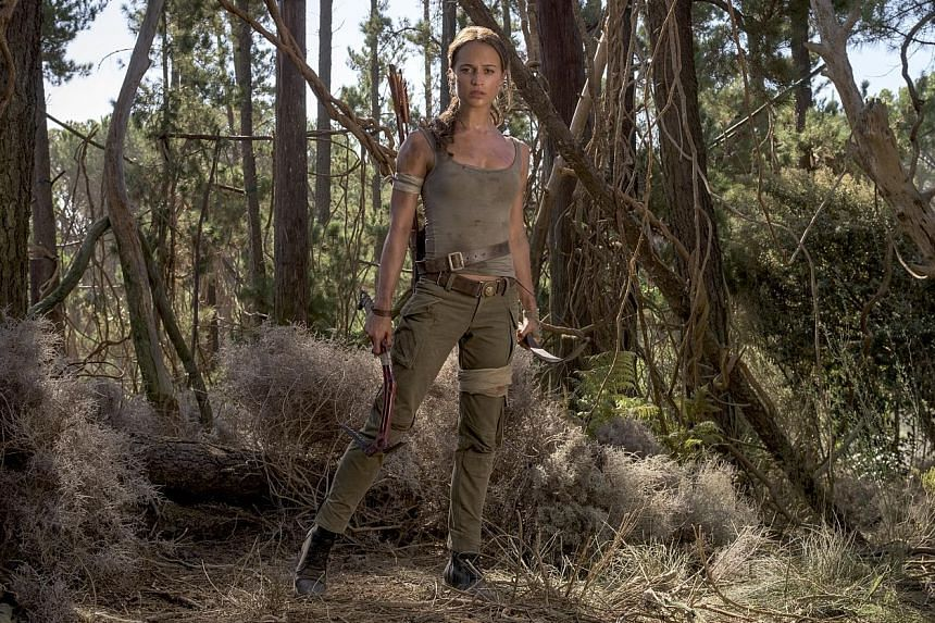 The first pictures of Swedish actress Alicia Vikander, 28, as Lara Croft (above) in the reboot of the action film Tomb Raider have been released. Actress Angelina Jolie had previously played the video game heroine. The reboot by Norwegian director Ro