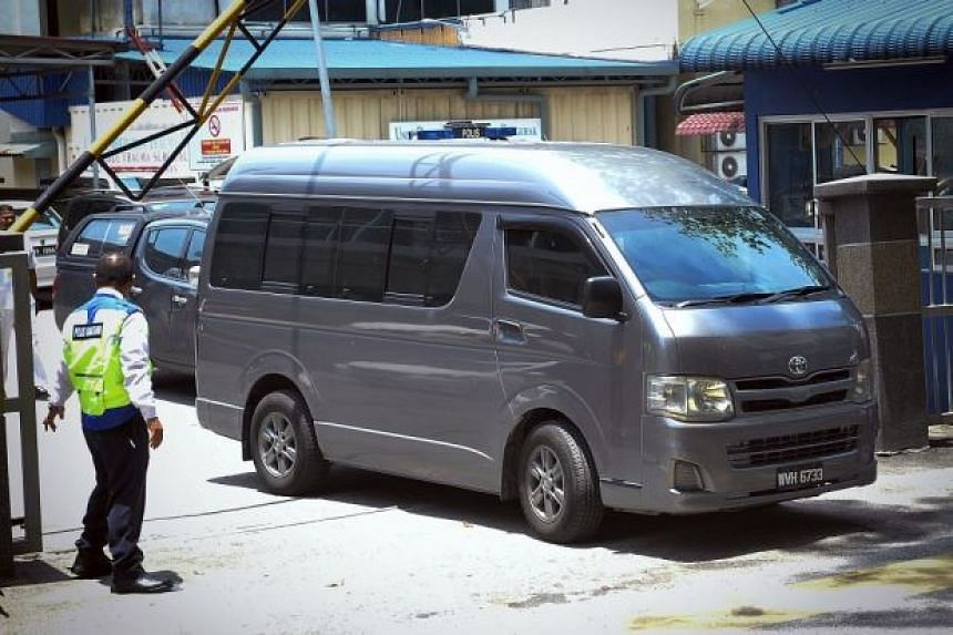 A van believed to be carrying the body of Kim Jong Nam was seen leaving Malaysia's Hospital Kuala Lumpur for the Kuala Lumpur International Airport's cargo complex.