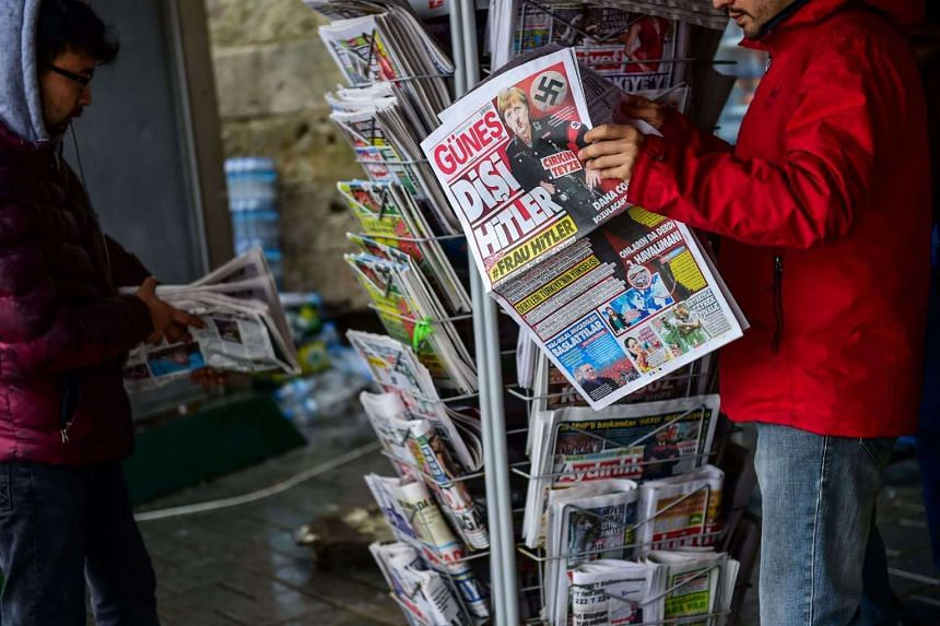 """The credibility of newspapers worldwide has been affected by the spread of """"fake news""""."""