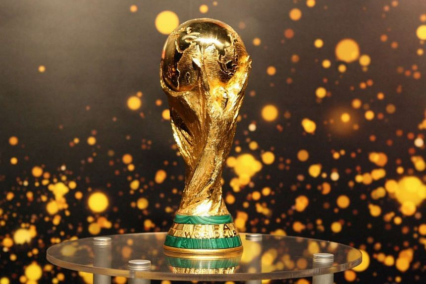 This file photo taken on May 12, 2006 shows the FIFA World Cup trophy presented to the public in Berlin.