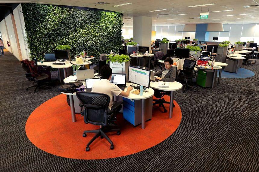 Tech start-up Garena's office at Fusionopolis.