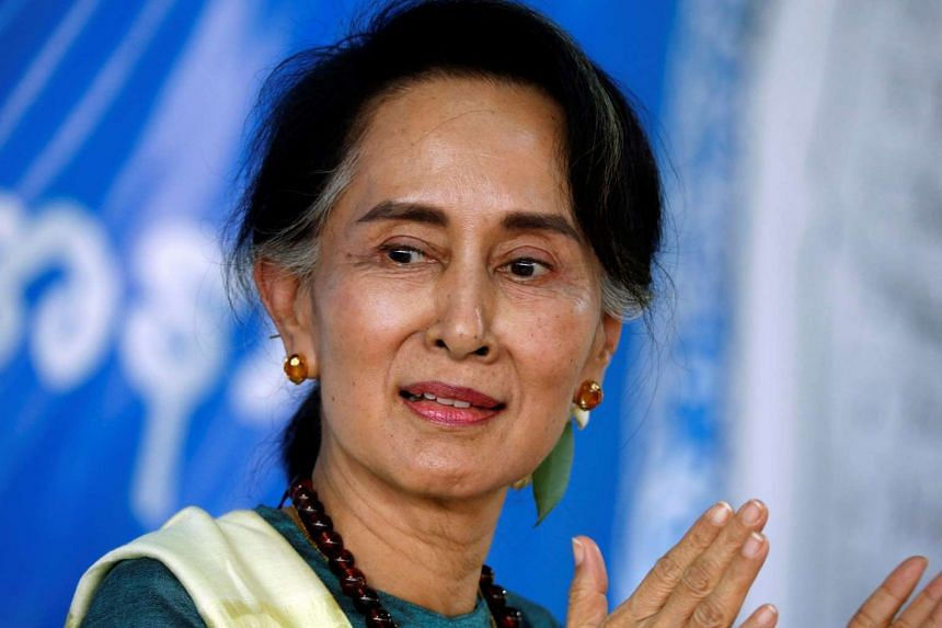 Suu Kyi (above, in a file photo) made the comments as Myanmar prepares for a by-election on Saturday.