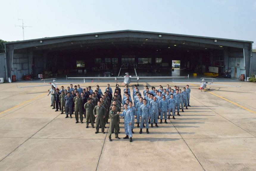 Members of the RSAF's Heron-1 unmanned aerial vehicle squadron participated in a joint training exercise with their Thai counterparts for the first time under the aegis of Operation Cope Tiger.