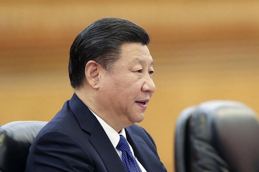 Chinese President Xi Jinping at the Great Hall of the People in Beijing.
