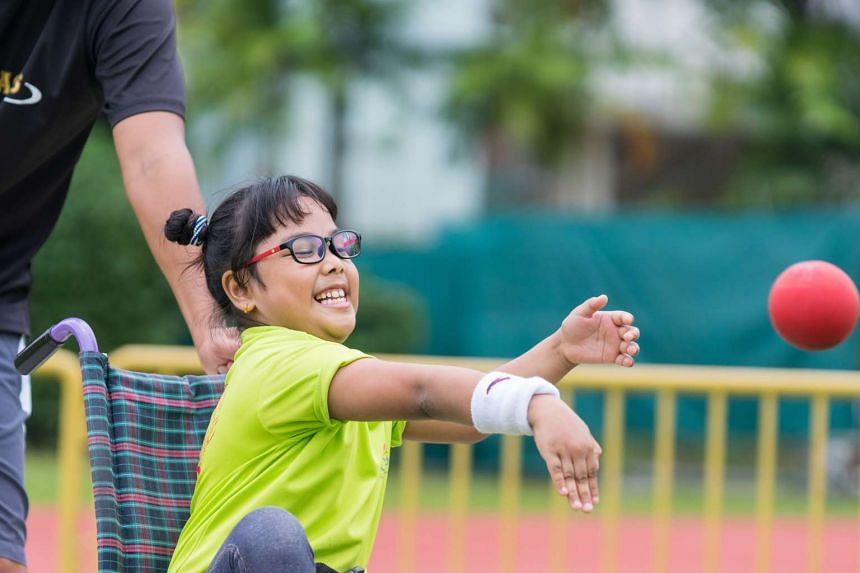 This was the first time that students with disability in mainstream schools were involved at the event organised by the Singapore Disability Sports Council.